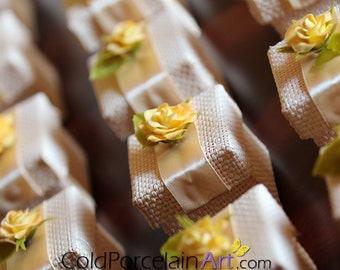 Favor Boxes- Wedding - Cold Porcelain Art - Made to Order