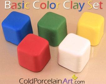 Cold Porcelain Clay - Basic Color Clay Set - Cold Porcelain Art