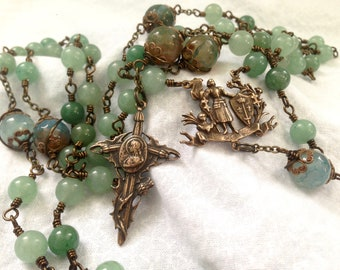 Joan of Arc Vintage Style - Wire Wrapped/ Unbreakable Rosary