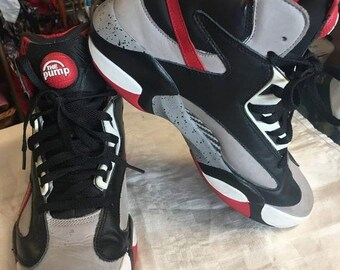 f2c876ee3383 SPRING SALE Reebok The Pump Shaq shoes red black white grey high top size 9