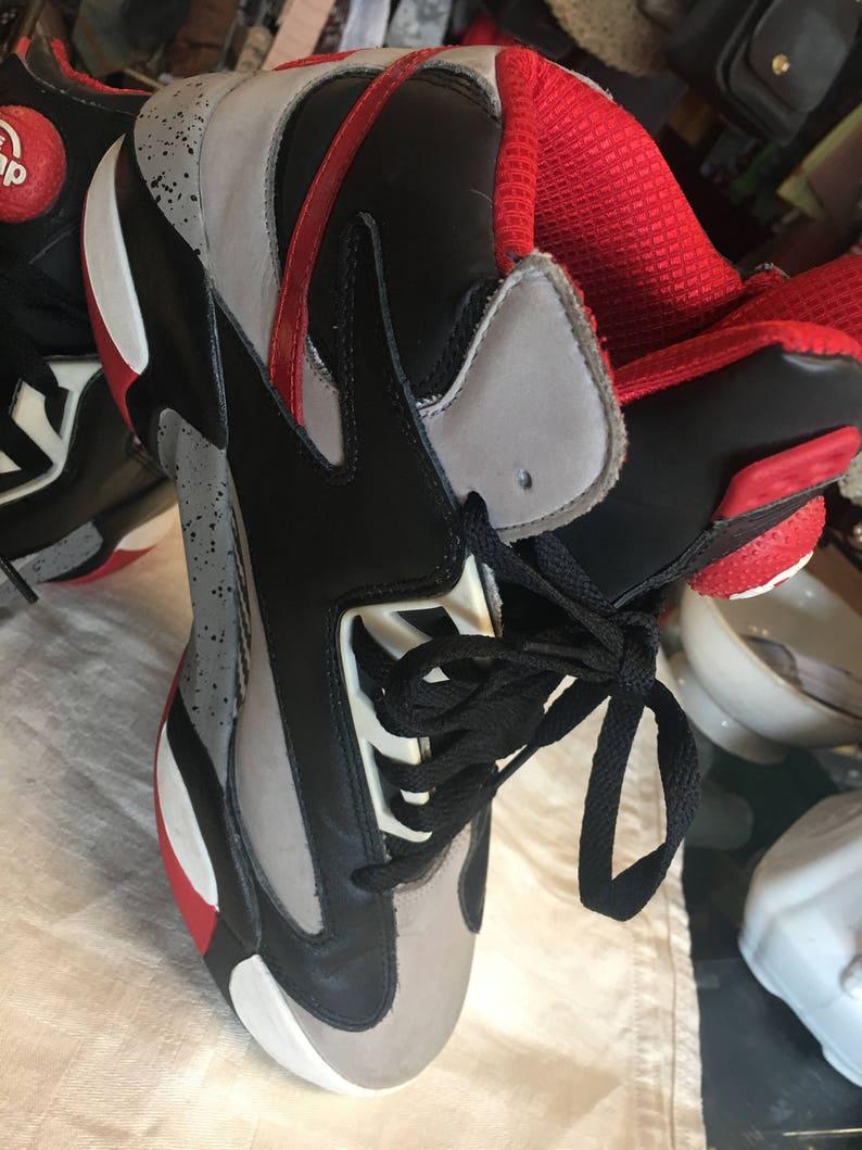 e59cd655b48ae Reebok The Pump Shaq shoes red black white grey high top size