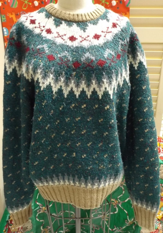 ugly christmas sweater St John Bay wool pullover s