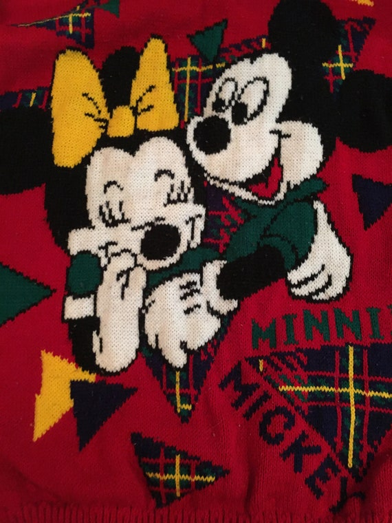 Ugly Christmas Sweater Mickey Mouse red