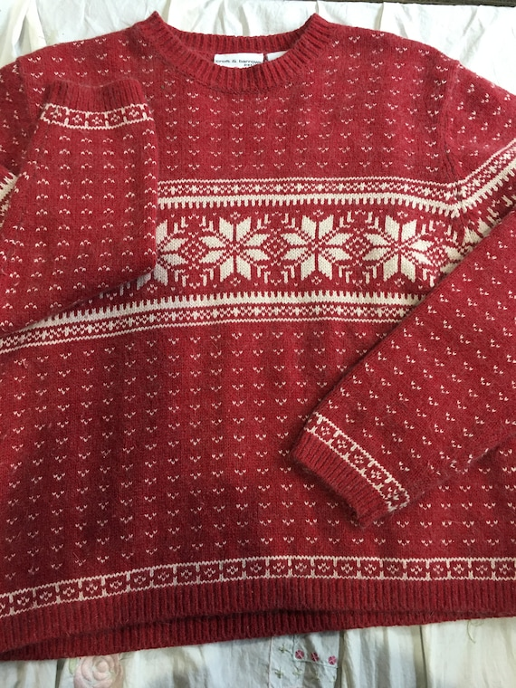 Ugly Christmas Sweater red white PXL snowflakes