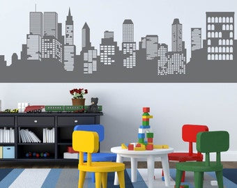 wall decals - Kids wall decals - city decal -  buildings decal -  vinyl wall decal - nursery wall decals