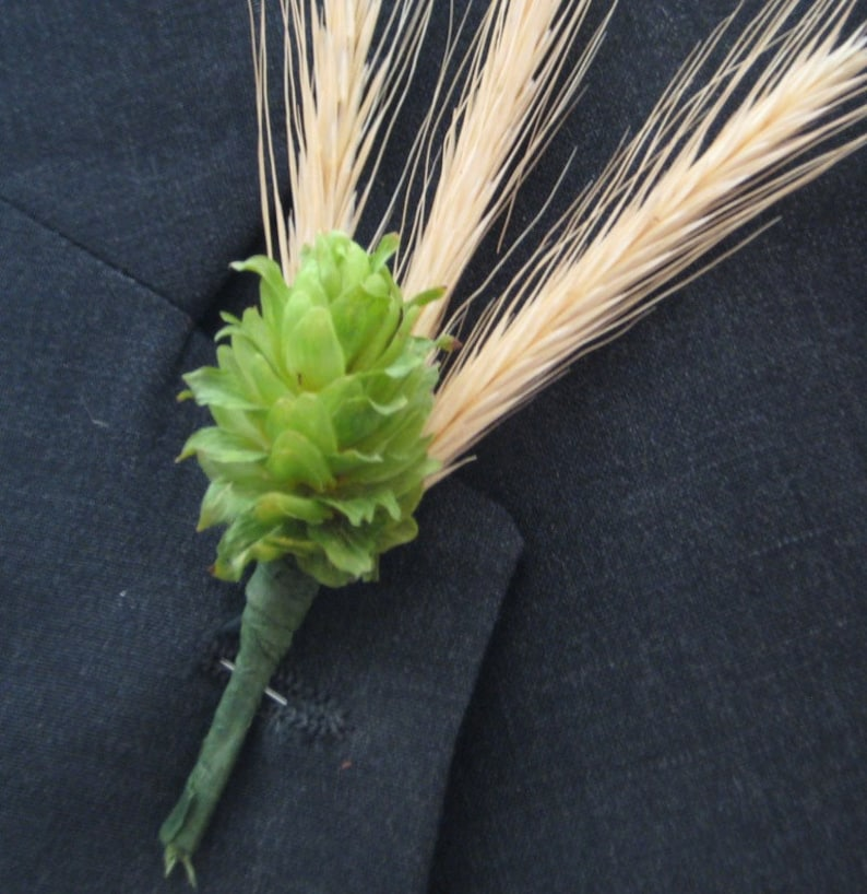 Beer Boutonniere Hops 10 Prewired Hops Cones wStems Ready for Boutonnieres Brewery Wedding Hops Cones DIY Boutonniere Hops for Weddings