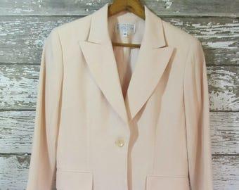 Vintage Saks Fifth Avenue Folio Collection Light Pink Blazer Women's Size 6
