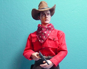 Custom Cowboy Gun Hand Jed  in 1/6 Scale (made to order)