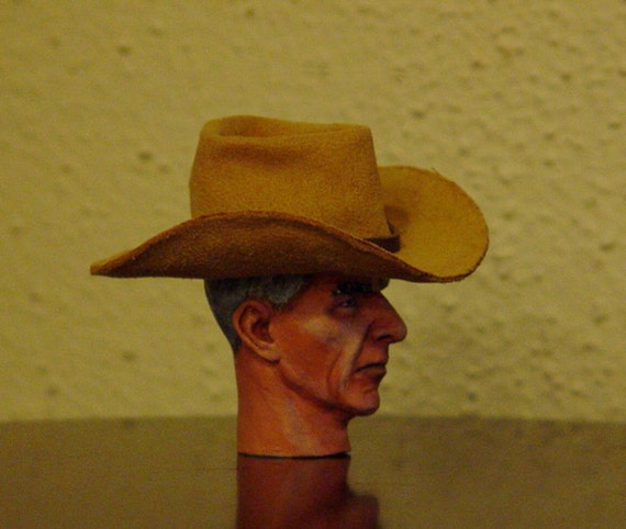 0f200bfa311 Buckskin Stetson Cowboy Hat 1 6 Scale by Old Days of Yore