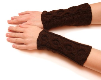 Stylish women fingerless - New arm knitted fingerless gloves mittens, gift for her, womens arms, wrist warmers, arm warmers, gloves winter