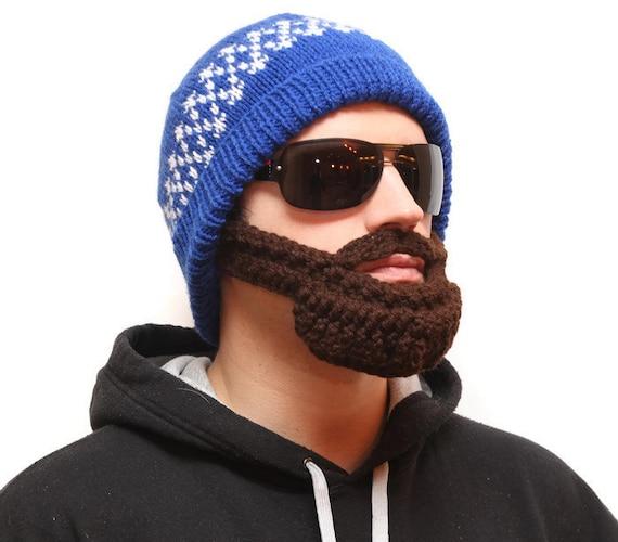Crocheted beard hat Bearded beanie Beard Hat beard head  2413deff260