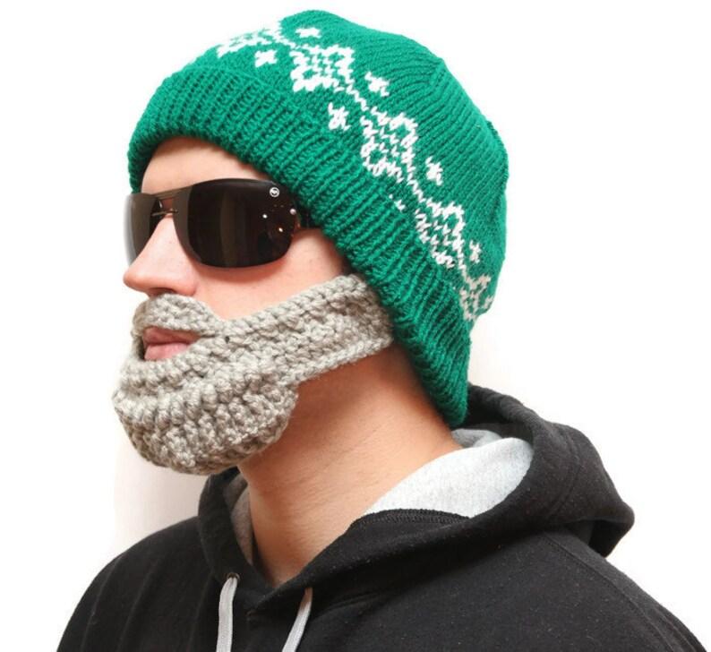 f267b7e8e8fe0 Unique winter hat Bearded hat Beard beanie Beard Hat