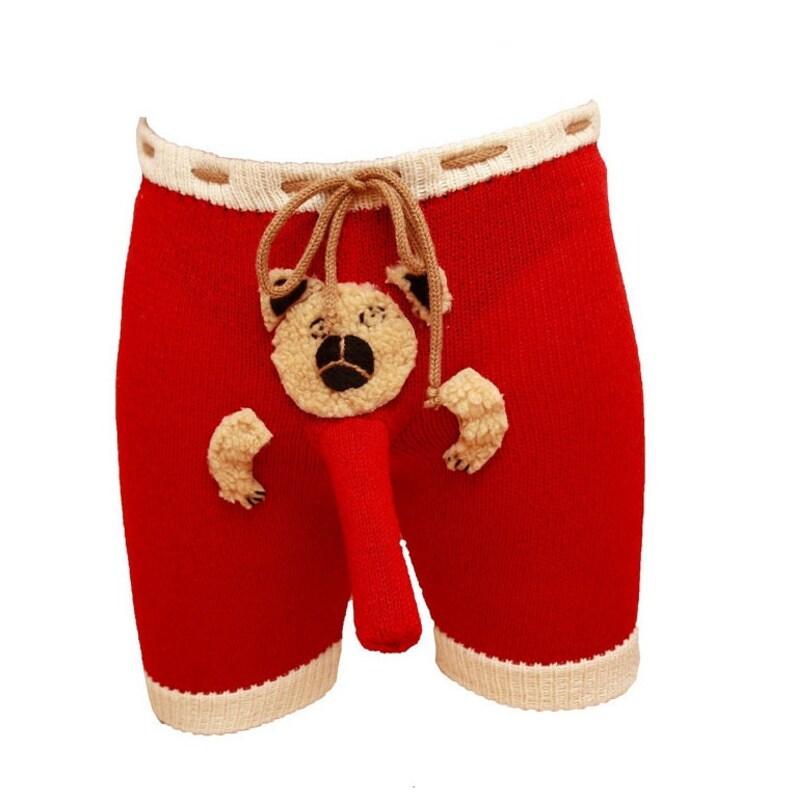 b6221a741 CARGO SHORTS Honeymoon lingerie mens underwear Teddy Bear