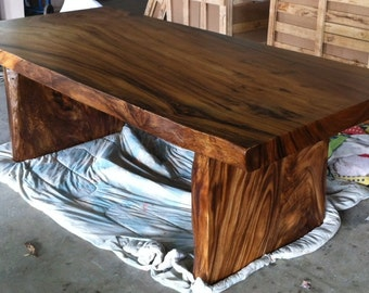 Outstanding Live Edge Dining Table Reclaimed Single Slab Golden Acacia Ocoug Best Dining Table And Chair Ideas Images Ocougorg