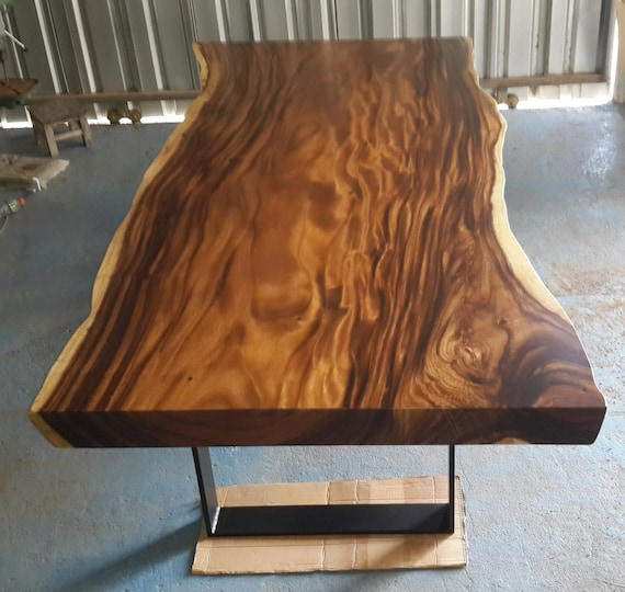 Dining Table Wood: Live Edge Dining Table Reclaimed Acacia Wood Solid Slab
