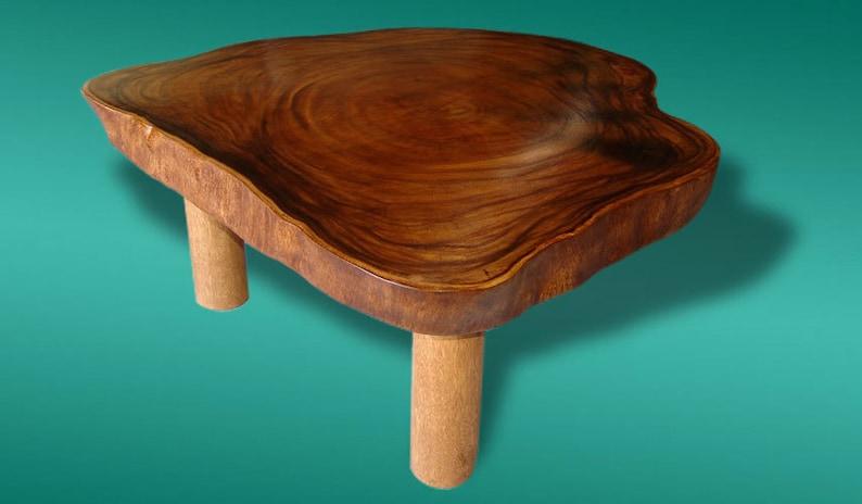 Live Edge Coffee Table Reclaimed Acacia Wood Solid Slab   Etsy