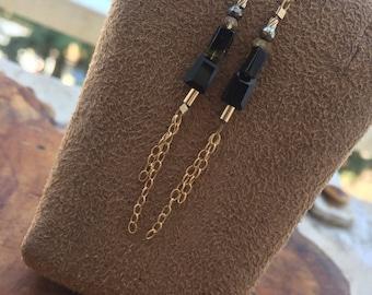 spinel & tourmaline 14kt gold filled earrings