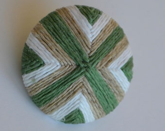 18th Century Death Head Buttons - Green, White and Beige