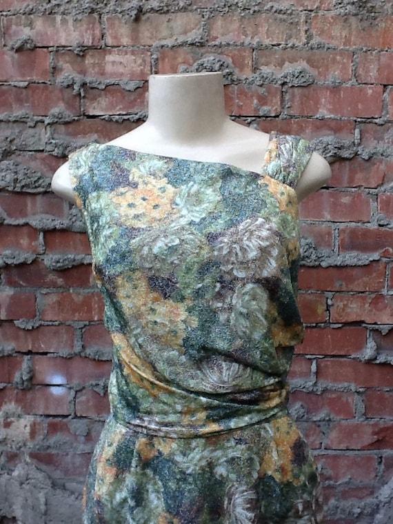 Vintage Metallic Wiggle Dress
