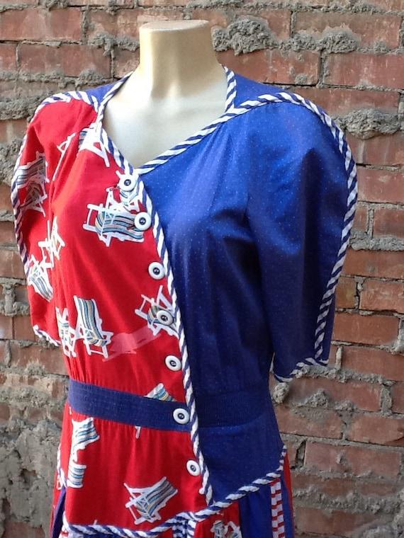 Vintage Bright Unique Dress