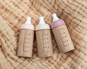 Mini Wooden Toy Dolls Bottle
