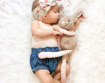 Elliott - Newborn Baby Toddler Girl Headwrap Head Wrap Bow Turban Hair Bow Floral Boho photo prop woodland mint blush pink coral  turquoise