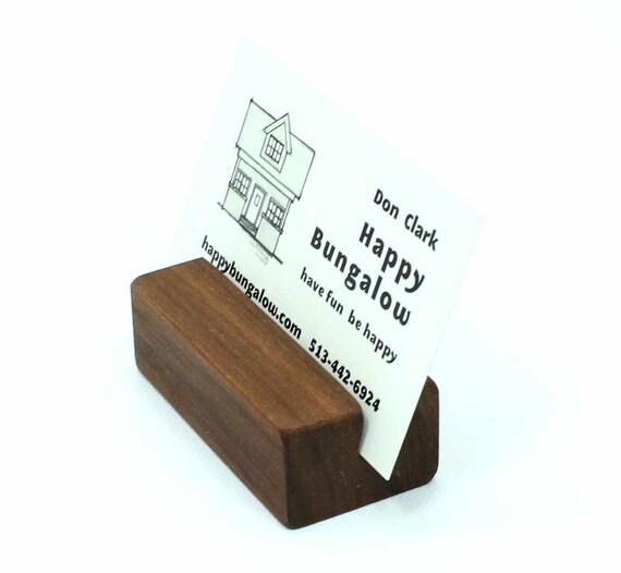Visitenkartenetui Kartenhalter Aus Holz Holz Visitenkartenetui Visitenkartenetui Für Schreibtisch Visitenkarte Stand Foto Halter