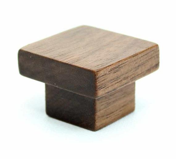 Nussbaum Holz Knopf Moderne Kabinett Hardware Nussbaum Möbel Etsy
