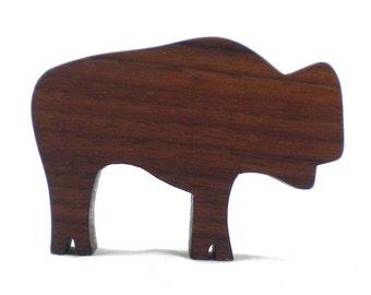 Wood Animal Toy Bison - Buffalo, wood bison, wooden toy for kids, buffalo toy, bison toy, wooden toy bison, buffalo figurine