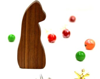 Sitting Wooden Toy Gorilla, ape toy, toy ape, gorilla figurine, sitting gorilla toy, Natural Wood toy, zoo animal toy, kid wooden toy