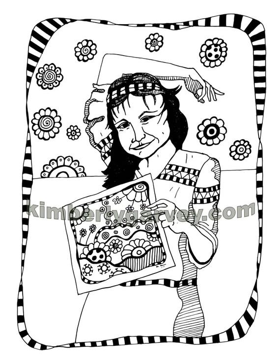 jade coloring page pdf digital file