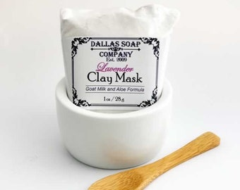 Clay Face Mask - Lavender Goat Milk Clay Face Mask