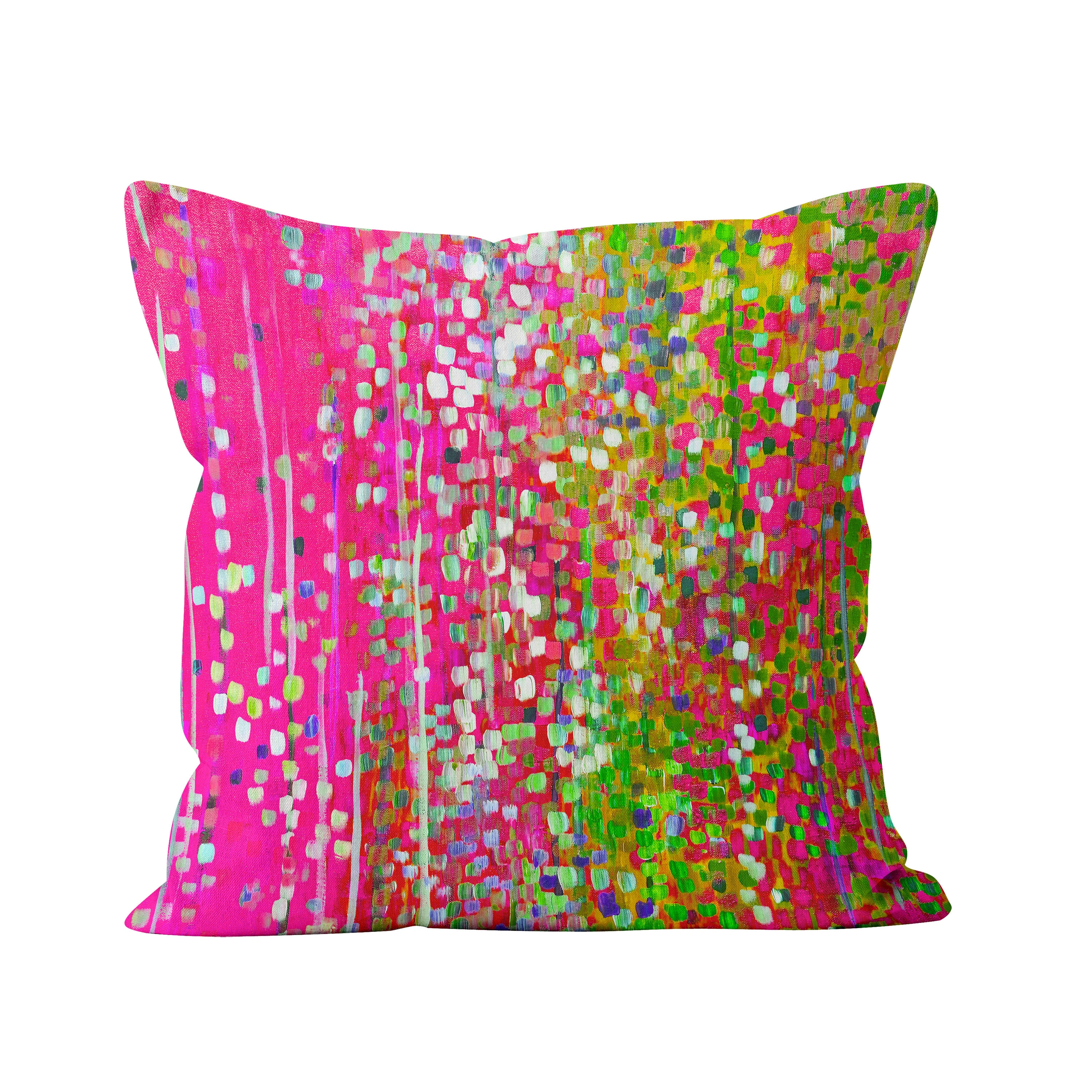 pink green cushion cerise and lime green sofa cushion etsy. Black Bedroom Furniture Sets. Home Design Ideas