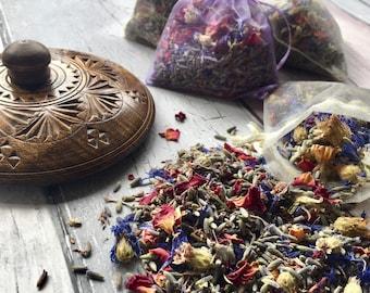 Hand blended, lavender, rose and cornflower scented sachets
