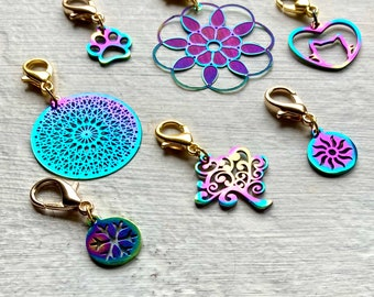 Progress/ crochet markers rainbow stainless steel asstd designs