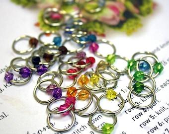 40 Shawl sock lace knitting stitch marker rings