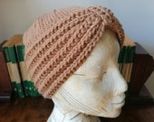 1940s Hair Snoods- Buy, Knit, Crochet or Sew a Snood Hand knitted 1940s style full turban $41.51 AT vintagedancer.com
