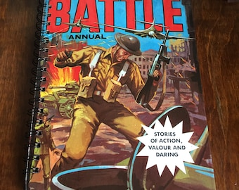 Large vintage book journal- Battle
