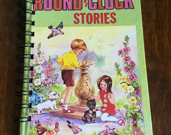 Small vintage book journal- 'Round the Clock Stories'