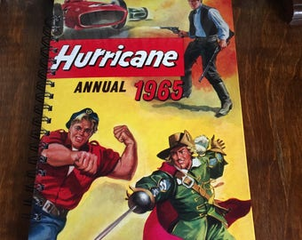 Large vintage book journal- Hurricane 1965
