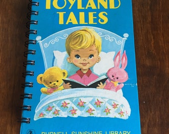 Small vintage book journal- 'Toyland Tales'