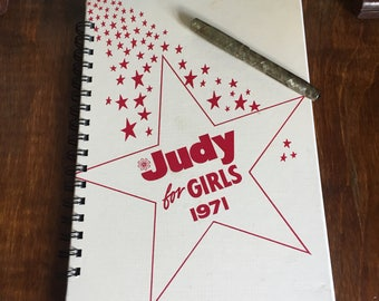 Large vintage book journal- Judy for Girls 1971