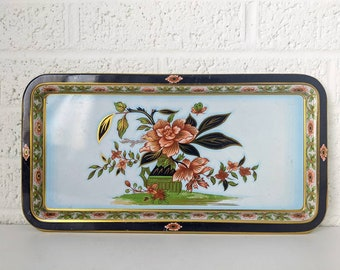 Vintage Studio B Hand Decorated TrayCenterpieceHome DecorTable DecorRose TrayVanity TrayServing Tray