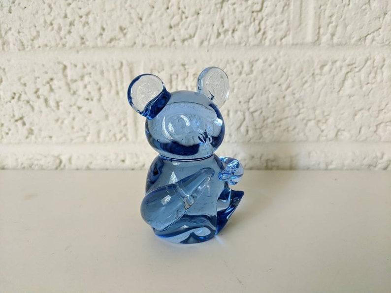 United States Commemorative Fine Art Collection Gallery Vintage Blown Glass Koala Bear Figurine