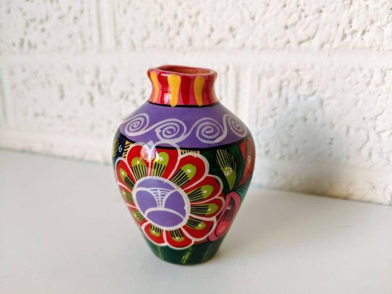Terra Cotta Bud Vase Vintage Isidora Mexico Pottery Vase