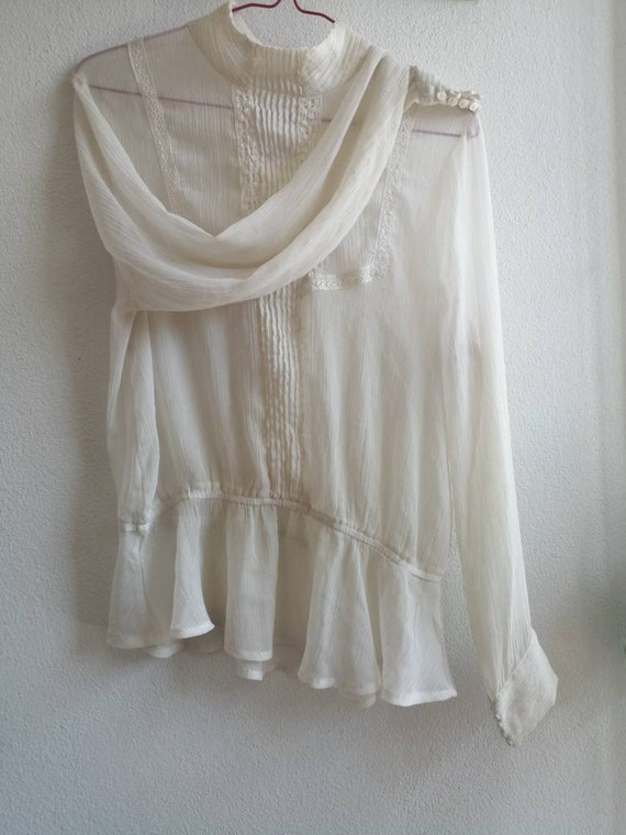 Victorian Ghost Blouse ~ size medium to large ~ s… - image 5