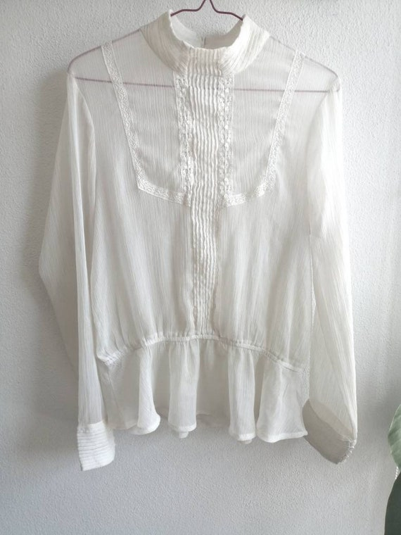 Victorian Ghost Blouse ~ size medium to large ~ s… - image 1