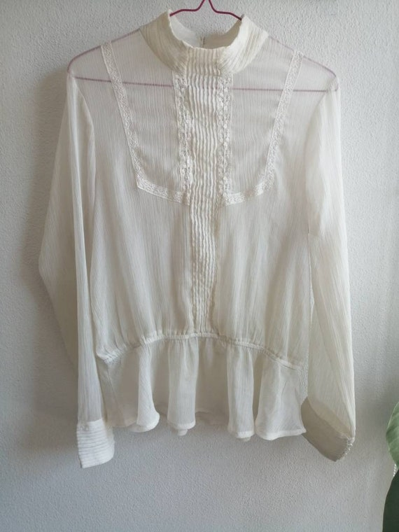 Victorian Ghost Blouse ~ size medium to large ~ s… - image 4