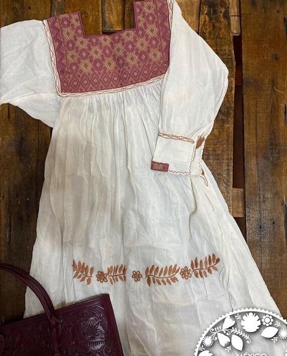 Mexican summer dress - folk dress - medium large d