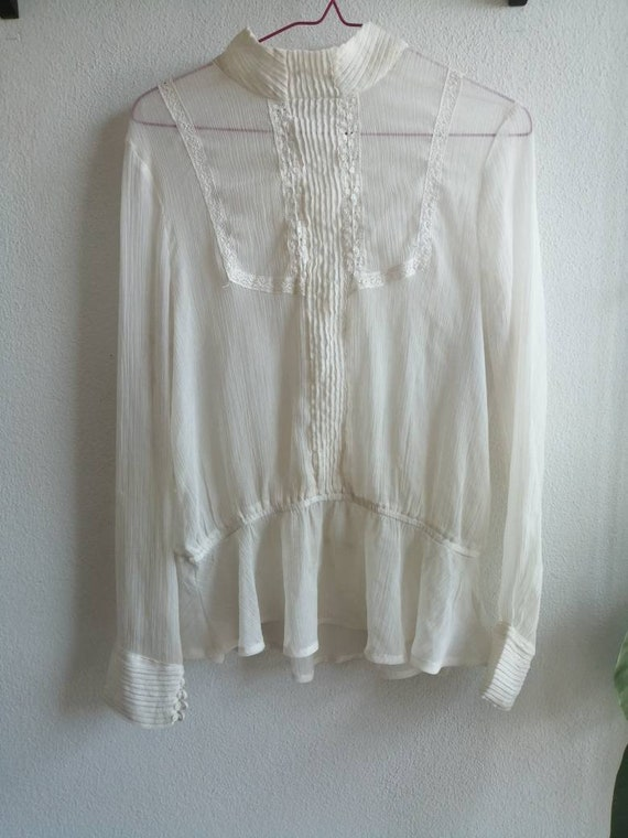 Victorian Ghost Blouse ~ size medium to large ~ s… - image 6